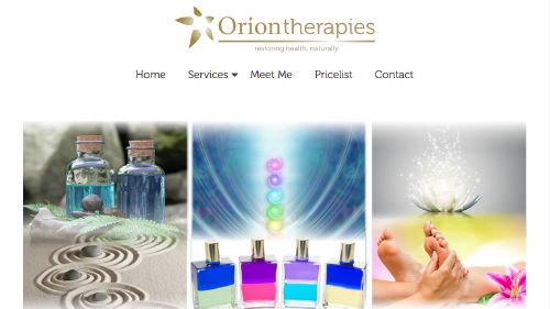 Orion Therapies website built by iSystems